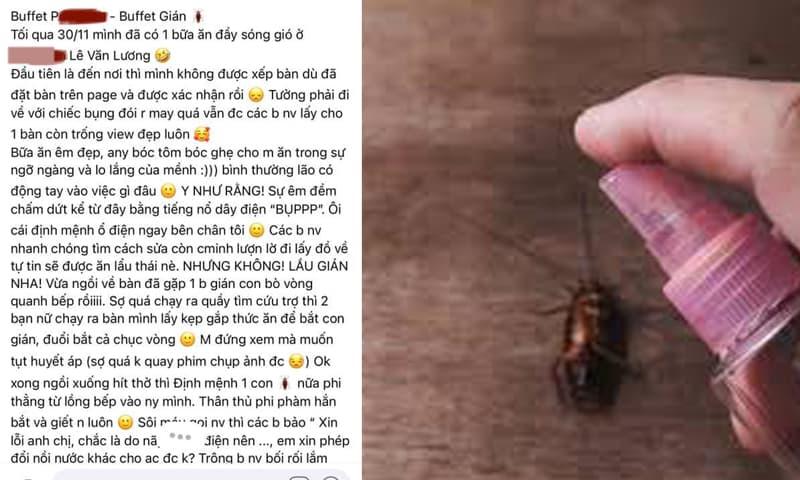 Bóc phốt một nhà hàng ở Hà Nội để khách ăn buffet gián, cô gái bị 'ném đá'