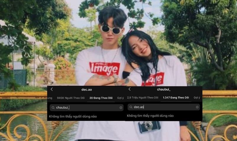 Châu Bùi và Decao chính thức bỏ follow nhau trên Instagram