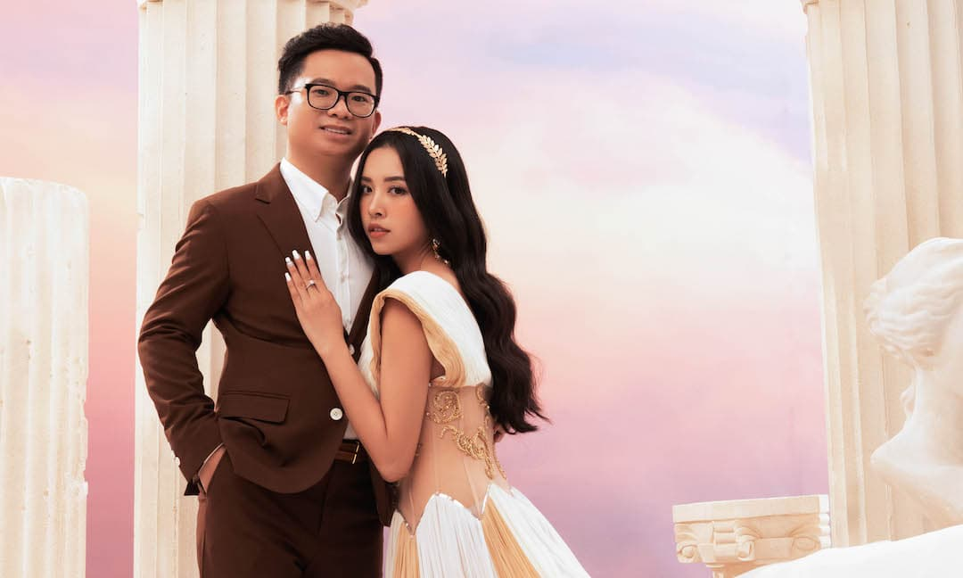 Á hậu Thuý An gợi cảm bên chồng Tiến sĩ trong bộ ảnh cưới