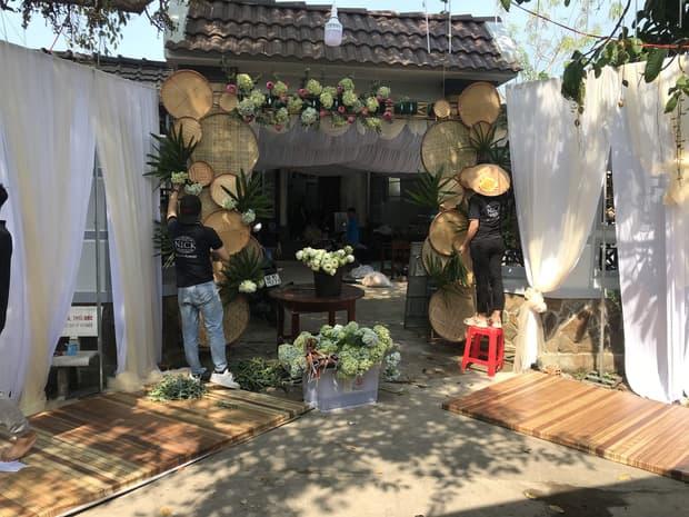 Những hình ảnh đầu tiên về không gian đám cưới quê nhà của á hậu Thuý An