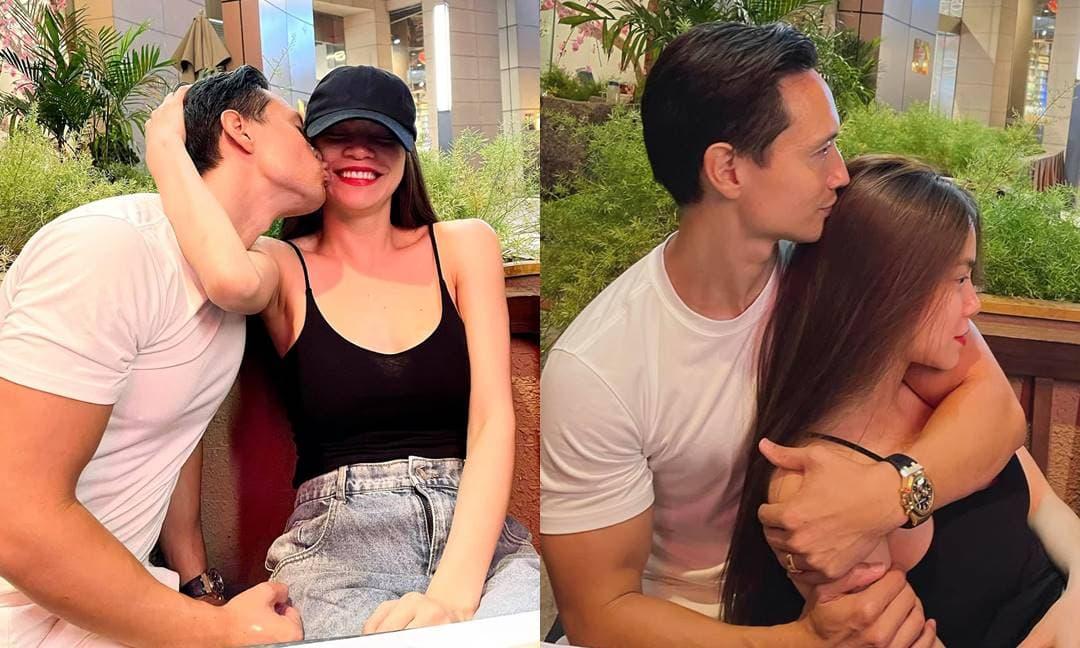 Trốn con hẹn hò, Hà Hồ và Kim Lý ngọt ngào đến mức hết ôm lại hôn liên tục ở quán ăn