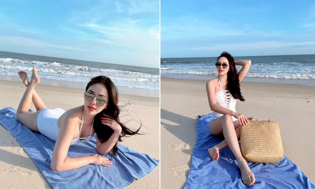 Bảo Thy khoe body gợi cảm khi diện đồ bơi tắm nắng dưới thời tiết 20 độ C