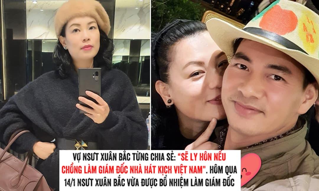 Bị dân mạng khui lại tuyên bố sẽ chia tay nếu chồng lên chức, vợ Xuân Bắc có phản ứng thế nào?