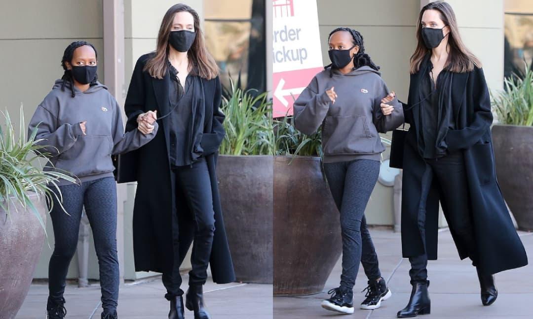 Angelina Jolie thân mật nắm tay con gái nuôi đi mua sắm, lên đồ đơn giản mà vẫn 'chất phát ngất'