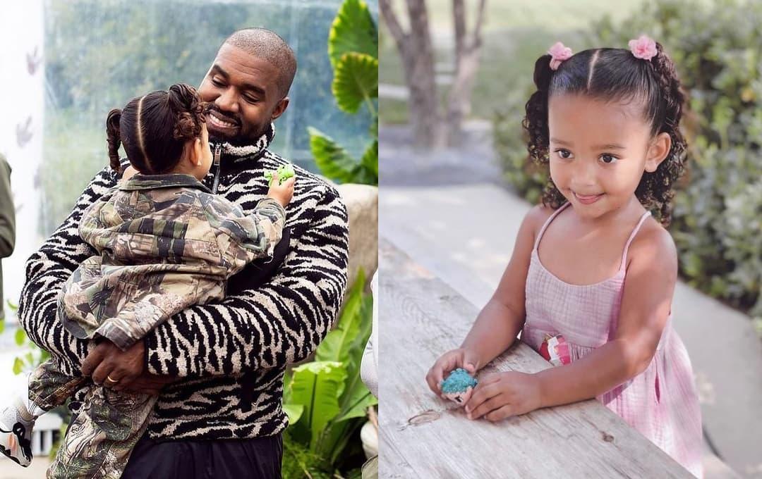 Con gái út của Kim Kardashian 3 tuổi, em bé xinh nhất nhì gia đình truyền hình thực tế với đôi môi dày giống mẹ và làn da giống bố