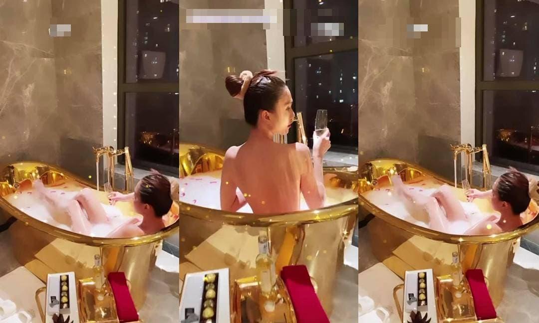 Ngọc Trinh thuê hẳn phòng khách sạn mạ vàng, khoe luôn loạt ảnh bán nude khiến fan trầm trồ