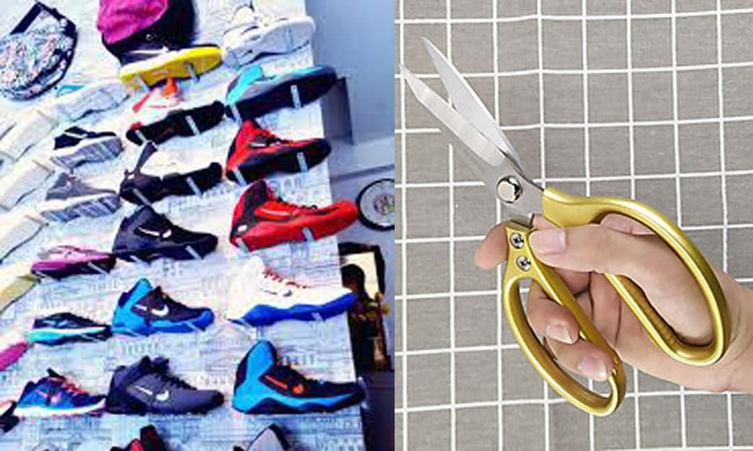 Bị cắm sừng, cô gái dùng kéo cắt luôn bộ sưu tập giày 100 triệu của bạn trai