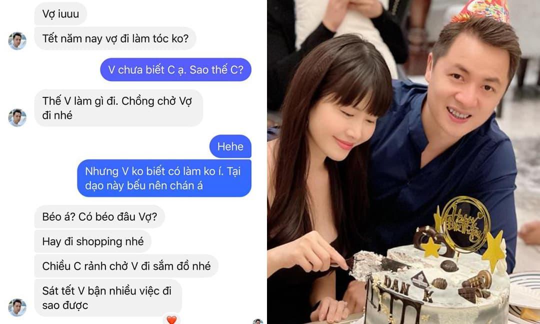Chuẩn 'chồng nhà người ta', Đăng Khôi nhắn tin hối vợ đi làm tóc, shopping để chuẩn bị đón Tết