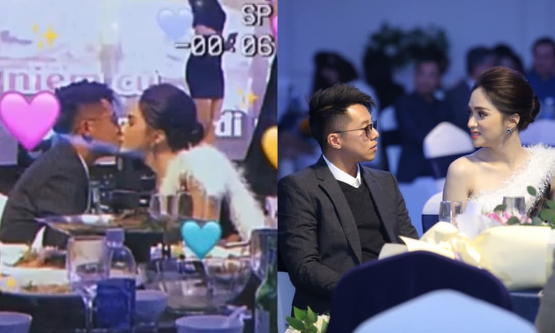 """Hương Giang - Matt Liu khoá môi nhau cực ngọt giữa sự kiện, ngọt ngào đến mức ai nhìn cũng phải """"quắn quéo"""""""