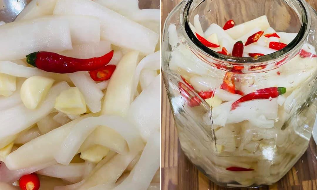 Cách làm món củ cải trắng ngâm chua ngọt ăn giòn, lạ miệng, chống ngấy ngày Tết