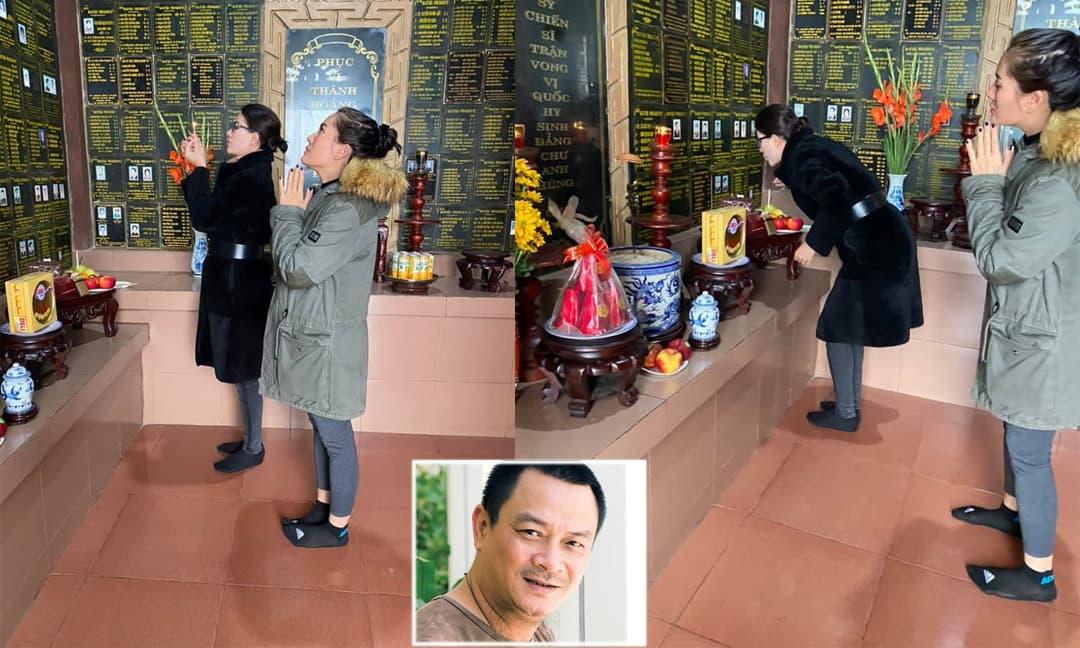 Trang Trần, Minh Cúc đến thăm nơi thờ cố NSND Anh Tú