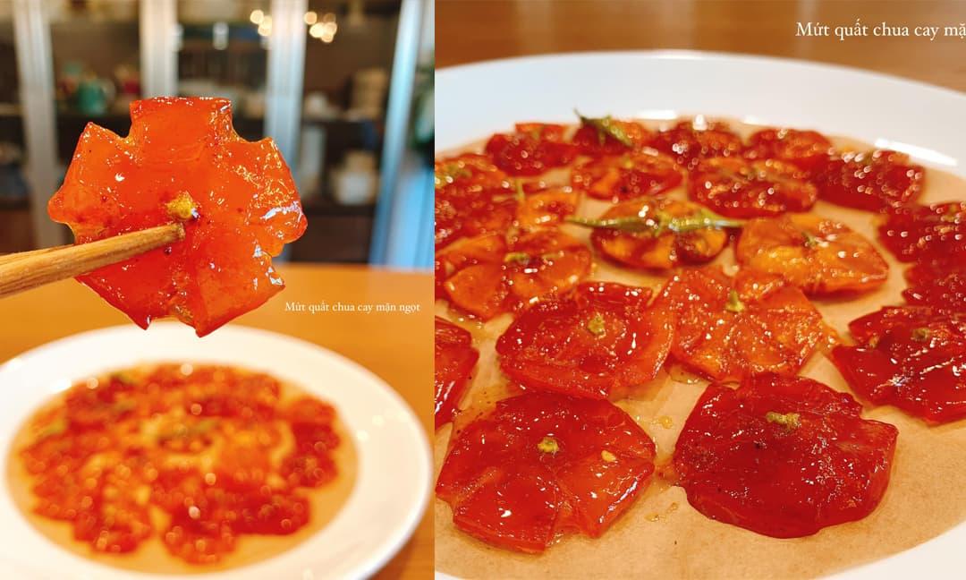 Công thức làm mứt quất chua chua, ngọt ngọt, màu cực đẹp