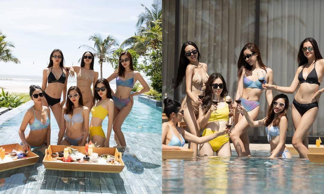 Á hậu Thúy An khoe loạt ảnh bikini cùng dàn người đẹp trong tiệc độc thân