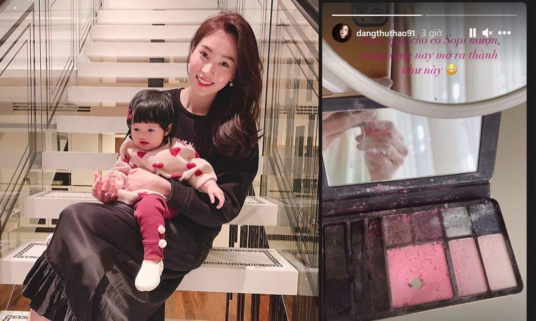 Đặng Thu Thảo cho con gái mượn đồ trang điểm và cái kết 'dở khóc dở cười'