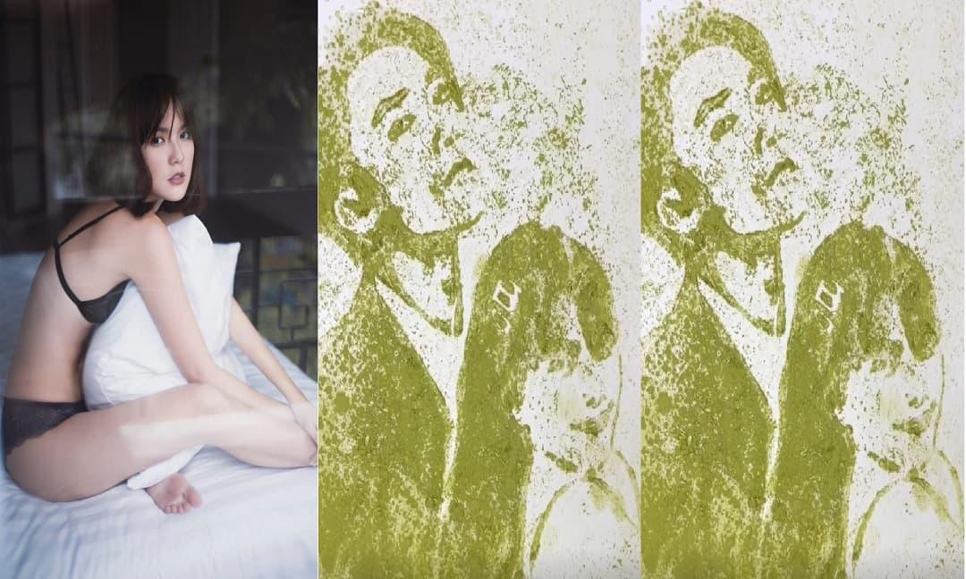 'Phù thủy vẽ tranh' gây sốt với thử thách vẽ Sơn Tùng - Thiều Bảo Trâm - Hải Tú bằng trà xanh