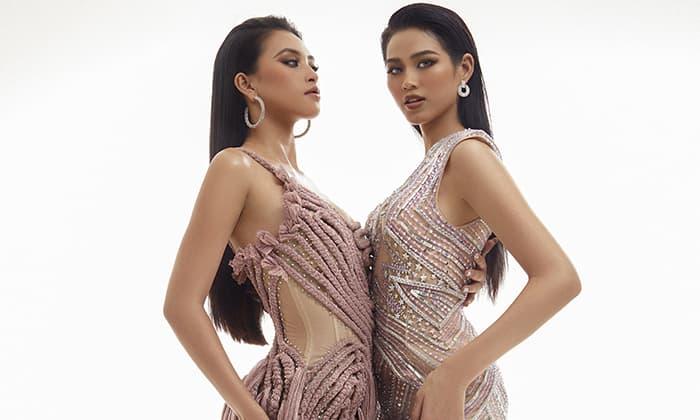 Tiểu Vy và Đỗ Thị Hà lần đầu đọ sắc với váy xuyên thấu