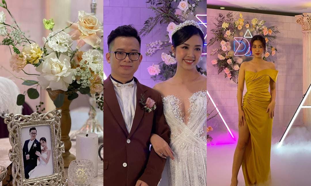 Cập nhật đám cưới Á hậu Thuý An: Cô dâu khoe vòng một ngồn ngộn, khách mời đầu tiên xuất hiện