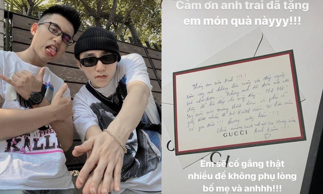 Giữa nghi vấn chia tay Thiều Bảo Trâm, Sơn Tùng M-TP nhắn nhủ ngọt ngào đến em trai nhân dịp sinh nhật