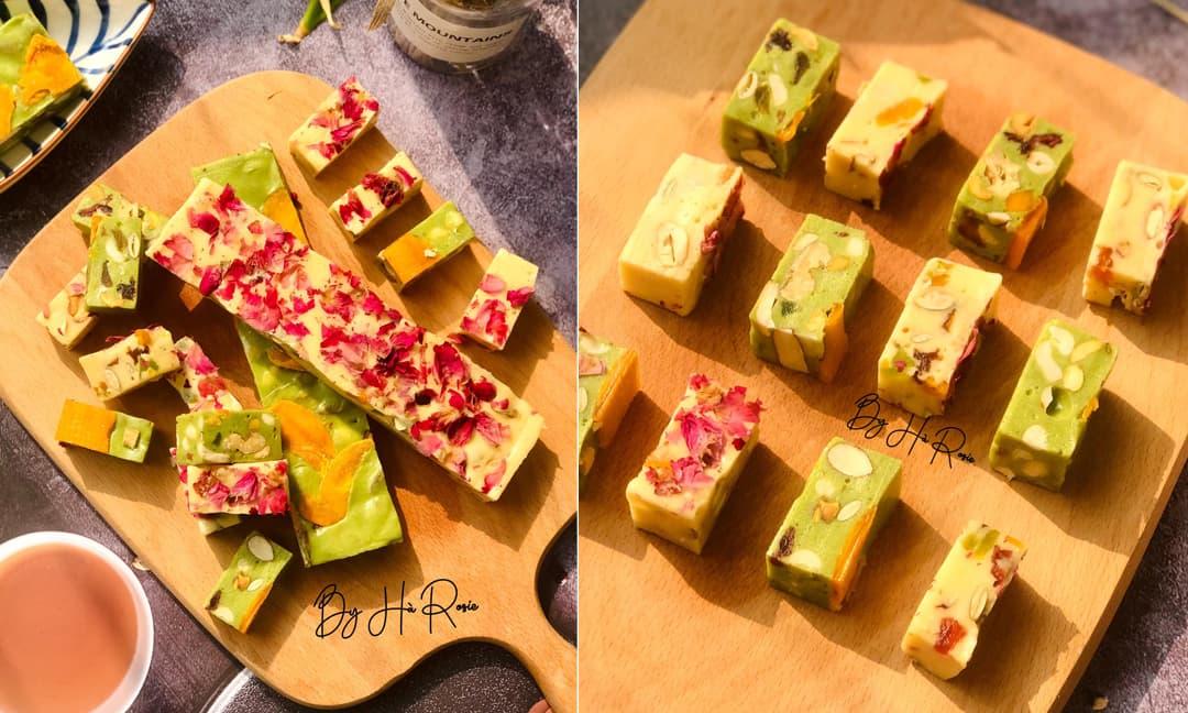 Chán bánh mứt, có thể học làm món kẹo hạnh phúc màu đẹp như 'hoa' đãi khách trong dịp Tết