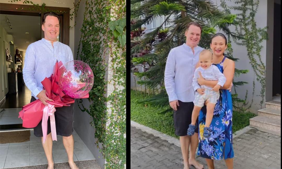 Chồng cũ Diva Hồng Nhung đón sinh nhật bên vợ doanh nhân và con trai