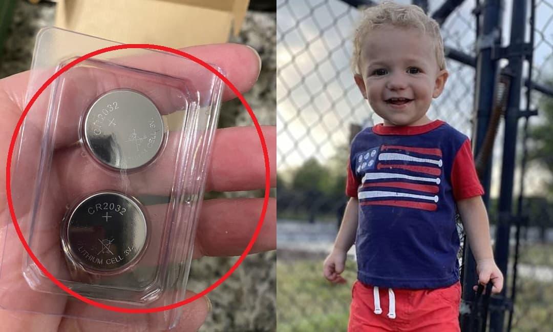 Cậu bé 2 tuổi qua đời sau khi nuốt phải cục pin cúc áo và bị 'đốt cháy' nội tạng