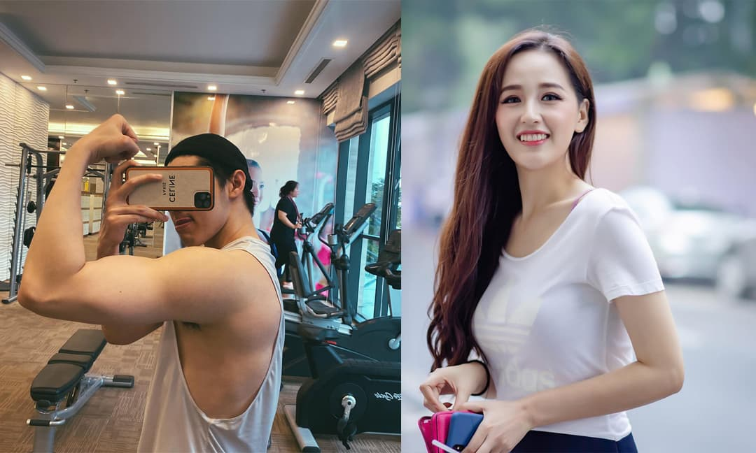 Noo Phước Thịnh đăng ảnh ở phòng gym, Mai Phương Thúy lại hỏi đồ ăn trong tủ lạnh nhà nam ca sĩ