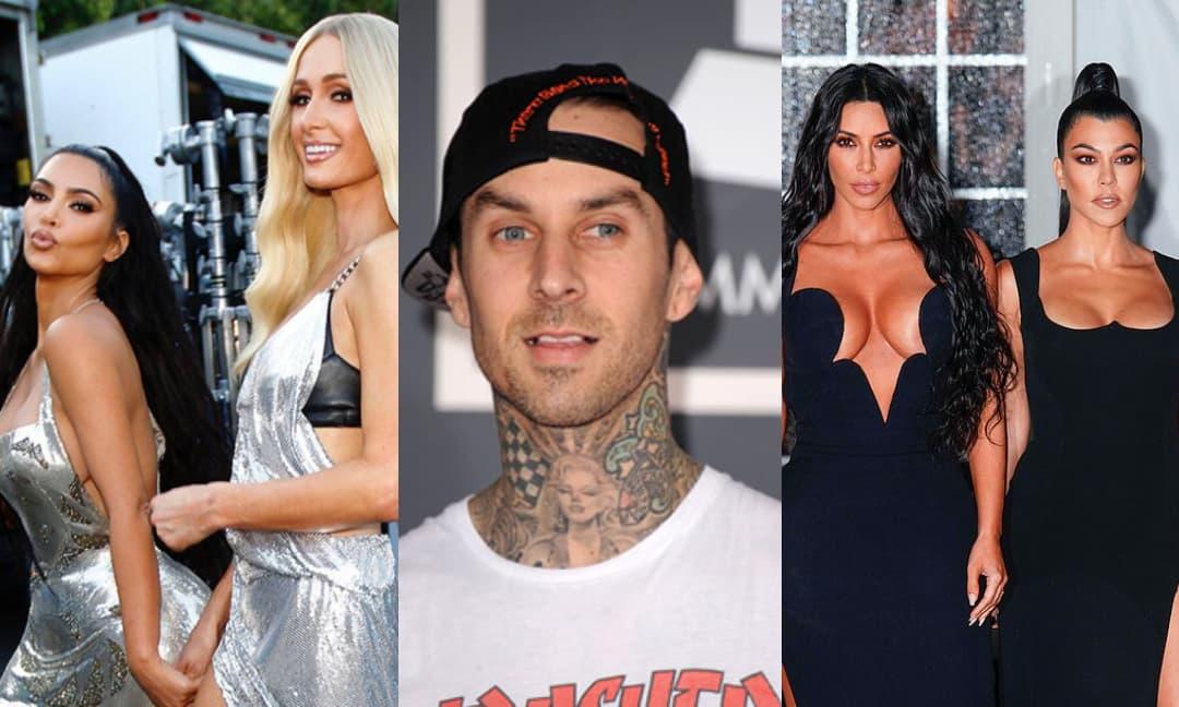 Tay trống Travis Barker trước tán tỉnh cô em Kim Kardashian, sau hẹn hò cô chị Kourtney
