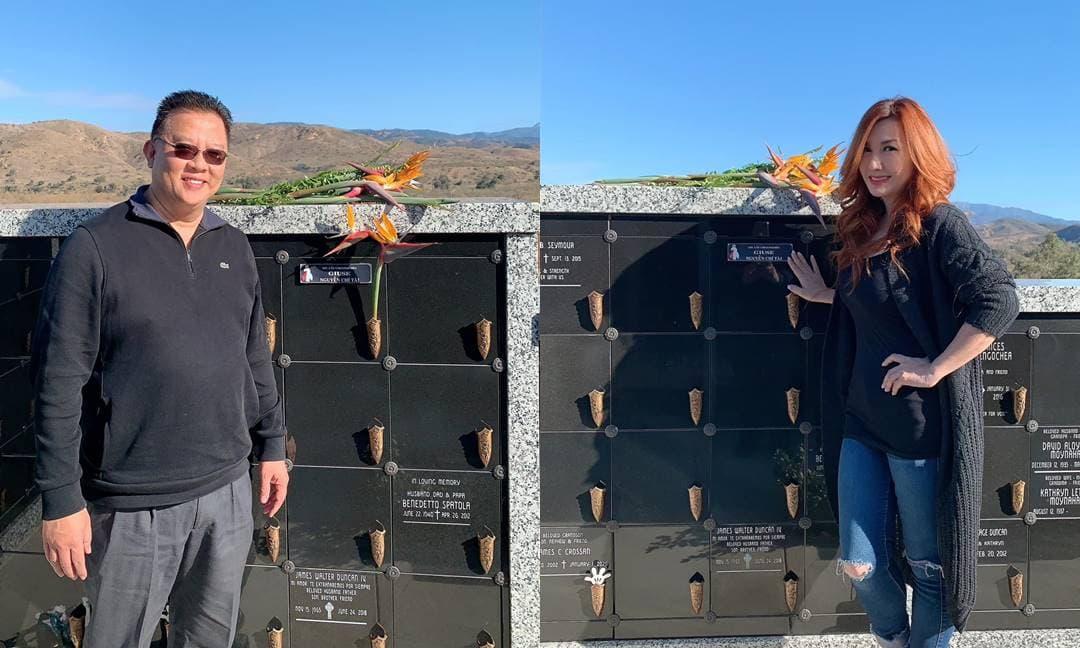 Tròn 49 ngày Chí Tài qua đời, em trai ruột và vợ cũ Bằng Kiều đến thăm mộ: 'Hôm sau chúng em đến thăm anh nhé'