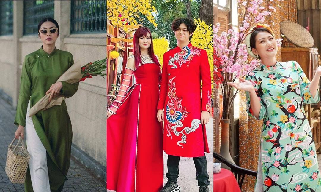 Sao Việt rộn ràng diện áo dài đón Tết Tân Sửu 2021