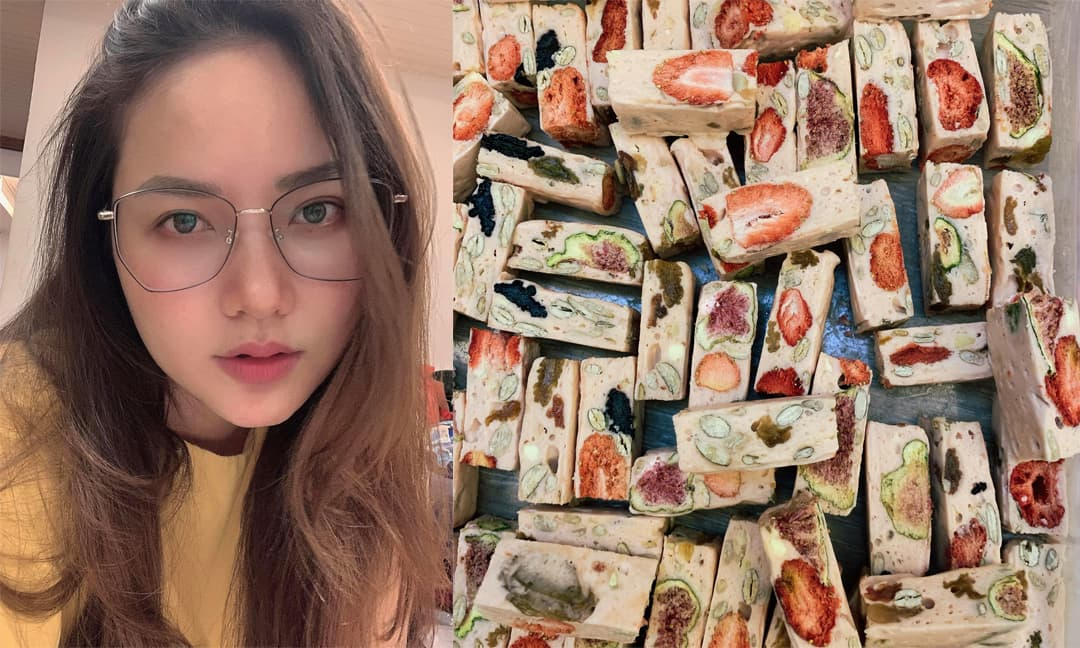 Đu trend làm kẹo hạnh phúc ở nhà, Phan Như Thảo tự chế ra công thức để ăn ít ngọt, ít béo