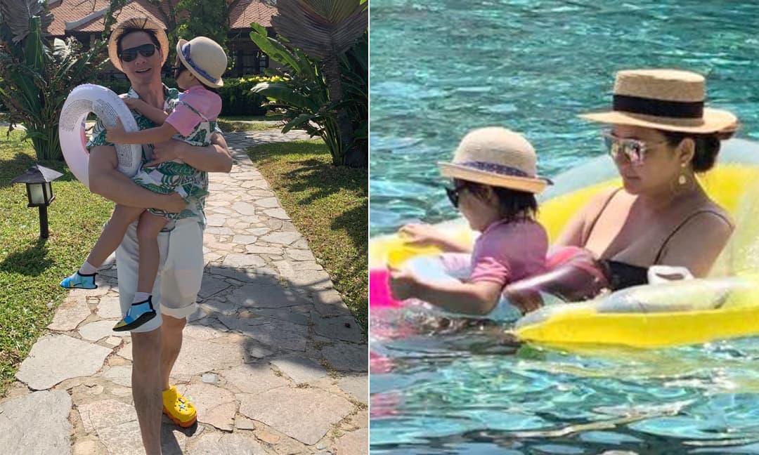 Phan Như Thảo cùng chồng con đi du lịch Nha Trang, tiết lộ được đại gia Đức An hỗ trợ chăm con nhỏ từ A - Z