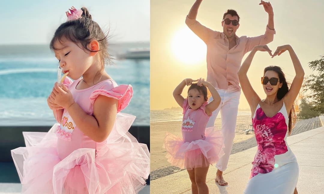 Siêu mẫu Hà Anh đi du lịch cùng gia đình, con gái Myla chiếm trọn spotlight vì quá đáng yêu
