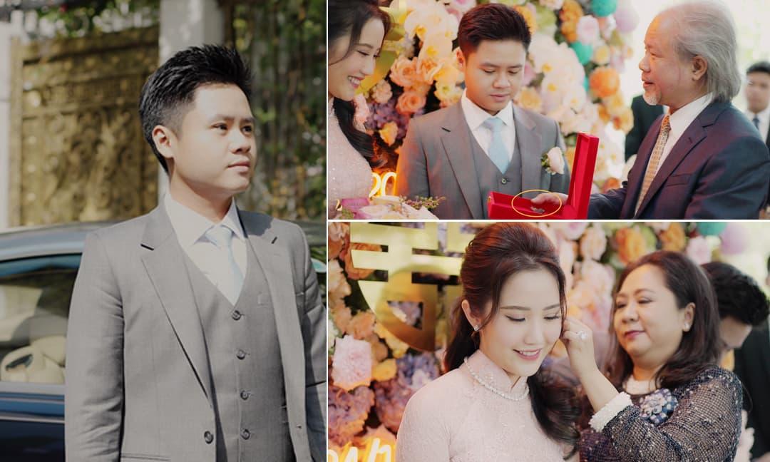 Phan Thành công khai toàn bộ lễ ăn hỏi bí mật: Đại gia Phan Quang Chất trao chìa khóa cho con dâu