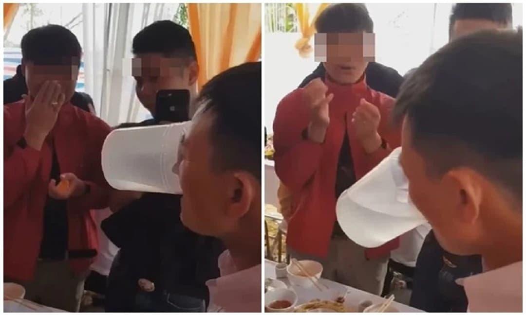 Nhà trai đặt 5 ca rượu lên thách đấu nhà gái, bố cô dâu có pha xử lý khiến tất cả tái mặt
