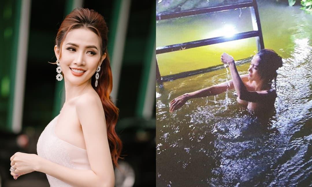 Bị đánh giá phản cảm khi quay cảnh tắm tiên để lộ hơn nửa vòng 1, Hoa hậu Phan Thị Mơ đáp trả cực cao tay
