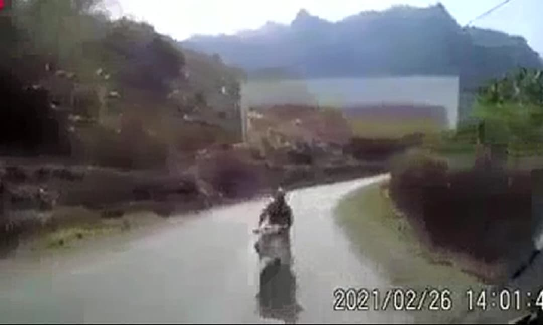 Vào cua, lấn làn, nam thanh niên đâm trực diện ô tô tải trên đường đèo