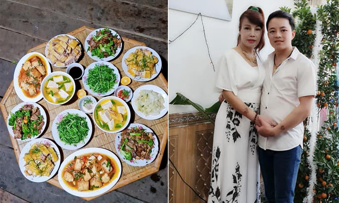 'Cô dâu 62 tuổi' Thu Sao khéo chăm chồng trẻ Hoa Cương bằng những món cơm nhà tự nấu