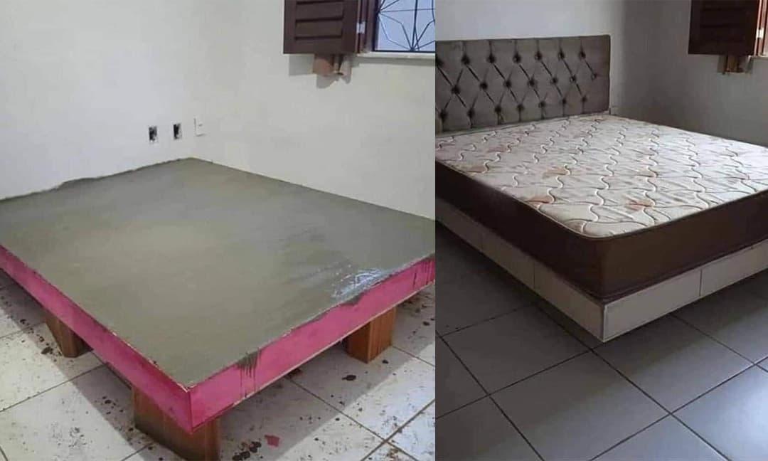 Tự xây giường gạch, bê tông chắc chắn thay cho giường gỗ, nhưng dân mạng lại nhận xét giống như nhà xác