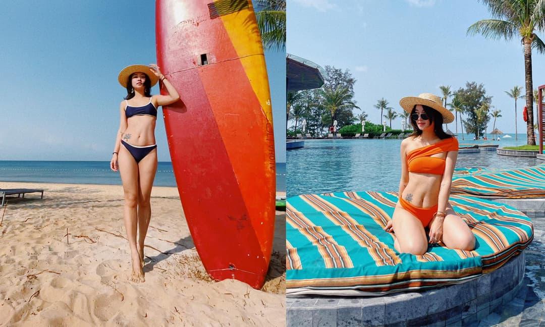 Đã là 'gái hai con' Mi Vân vẫn bốc lửa khi diện bikini hai mảnh khiến bao người mê