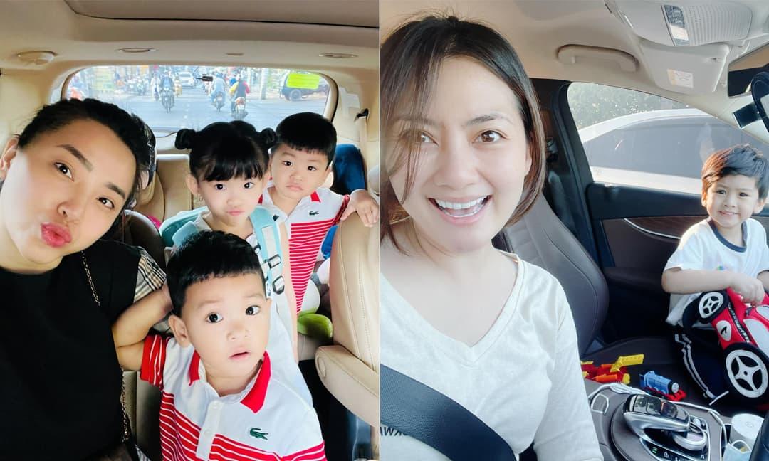 Sao Việt hào hứng đưa con trở lại trường học sau kỳ nghỉ Tết dài