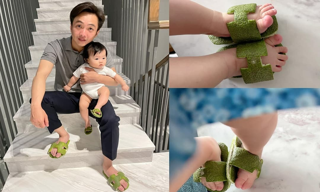 Cường Đô la gia nhập hội dép hiệu 'Hơi Mệt' cùng con gái Suchin: Team sợ muỗi chít làm fan 'té ngửa'