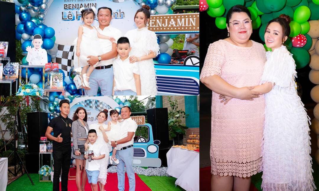 Dàn sao Việt đến dự sinh nhật hoành tráng của con trai Vy Oanh tại biệt thự triệu đô rộng 1.400 m2