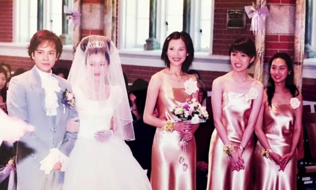 'Nàng Chúc Anh Đài' chia sẻ ảnh hiếm nhân dịp kỷ niệm 21 năm ngày cưới, để lộ dàn phù dâu nức tiếng Hong Kong