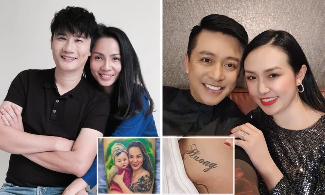 Sao Việt thể hiện tình yêu gia đình bằng cách xăm hình bạn đời và con cái lên cơ thể