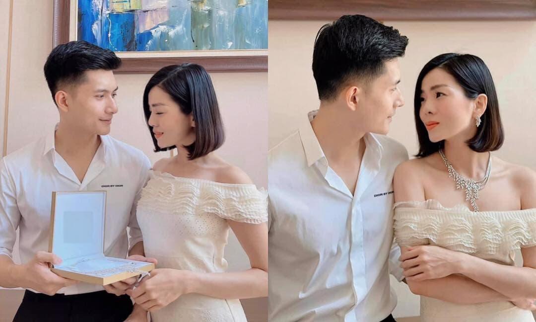 Tình trẻ Lâm Bảo Châu tặng quà 8/3 'lấp lánh cực khủng' cho Lệ Quyên