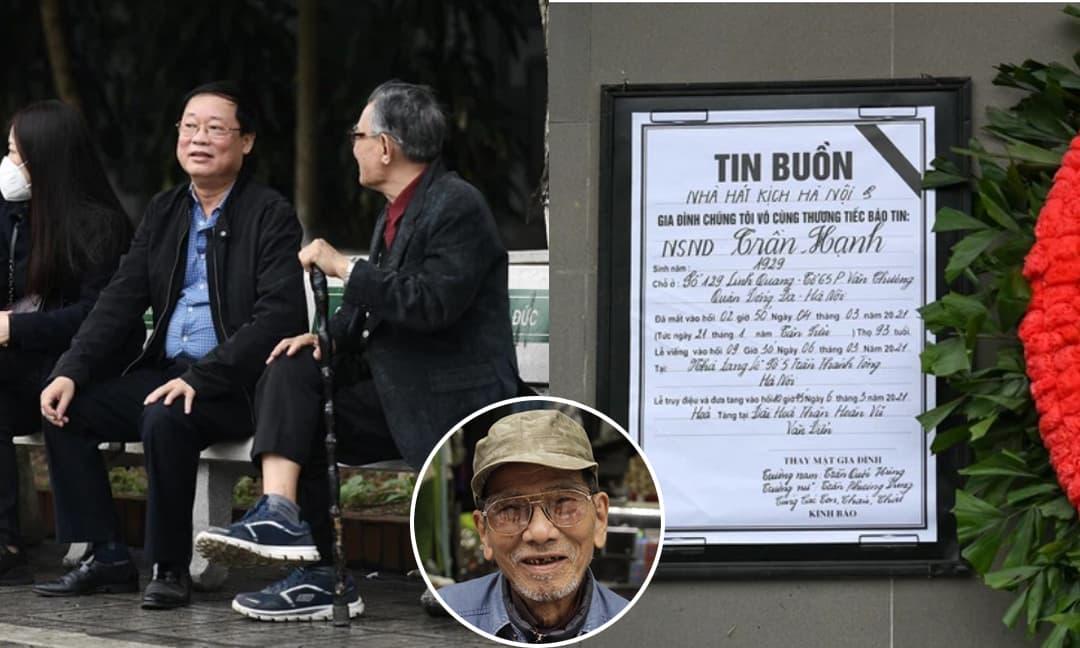 Đám tang NSND Trần Hạnh: Nhiều nghệ sĩ xuất hiện, không khí lễ viếng trang nghiêm và xúc động