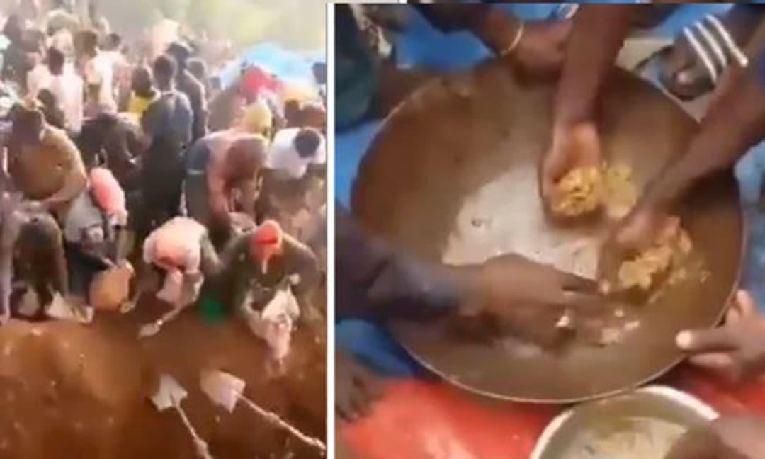Khoảnh khắc hàng nghìn người dân đổ xô đi khai thác vàng trên núi