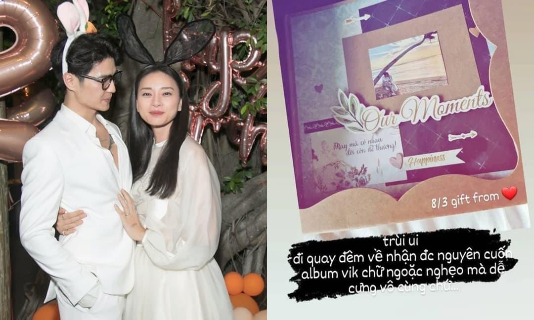 Ngô Thanh Vân bất ngờ hé lộ món quà 8/3 do Huy Trần tặng, tiện thể khoe luôn khoảnh khắc 'khóa môi' siêu ngọt ngào