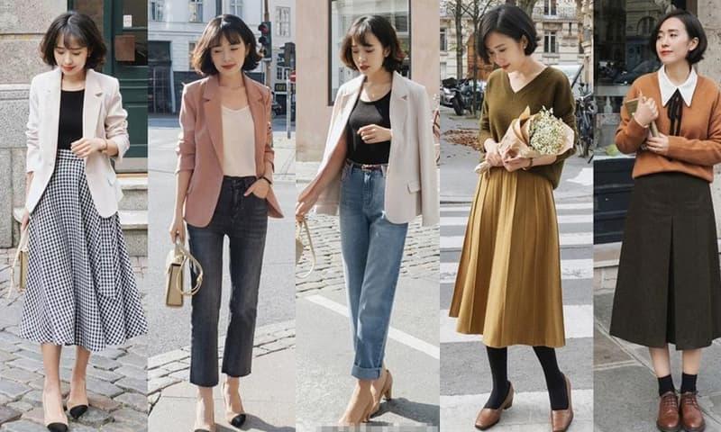 Thời tiết mưa phùn âm u, mặc như thế này theo các blogger thời trang, rất thanh lịch, thời thượng và nữ tính