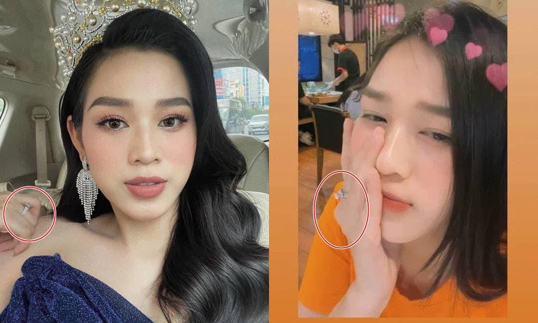 Sau hơn 3 tháng đăng quang, Hoa hậu Đỗ Thị Hà khiến netizen bất ngờ khi trên tay đeo nhẫn kim cương 'khủng'